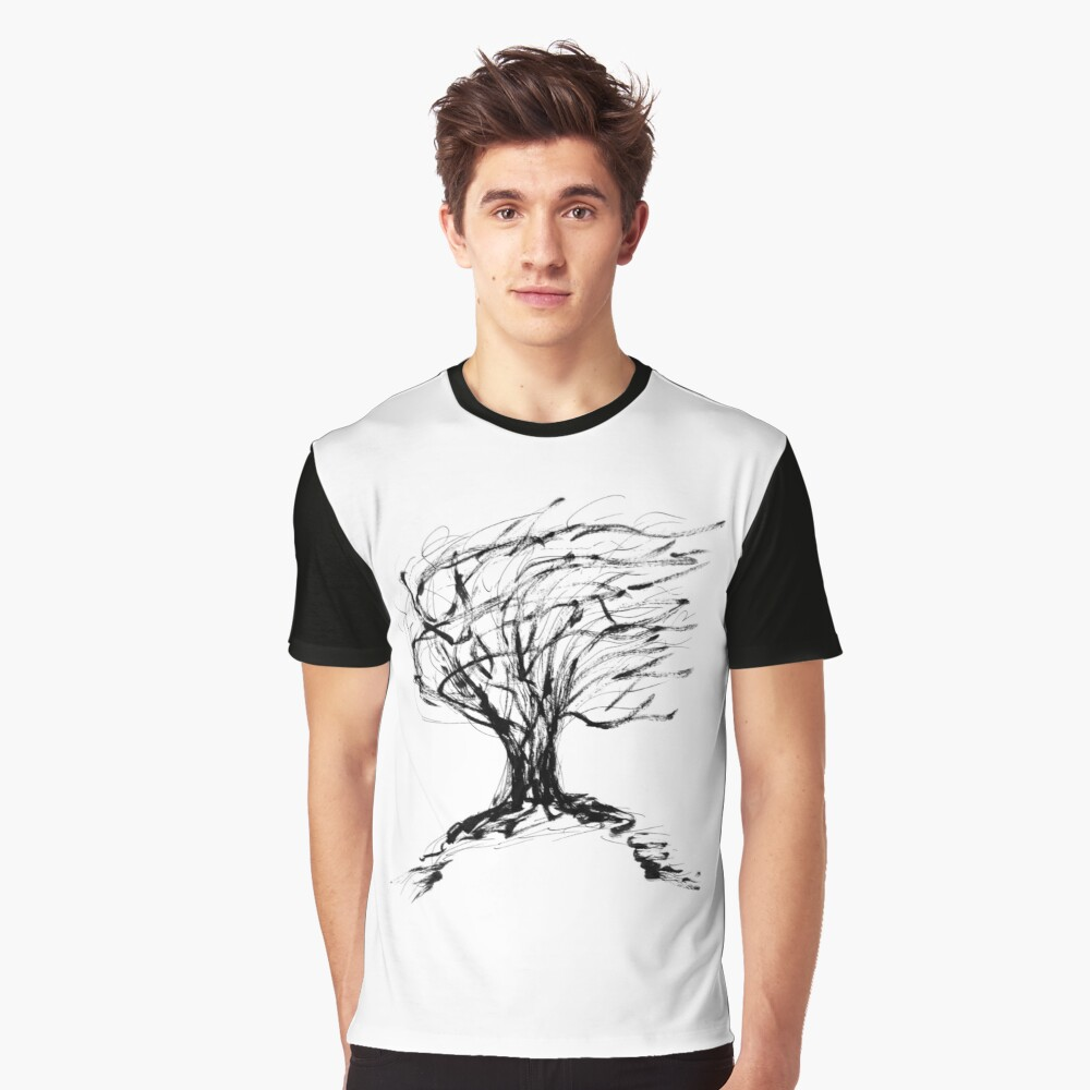 Autumn Willow Graphic T-Shirt Front