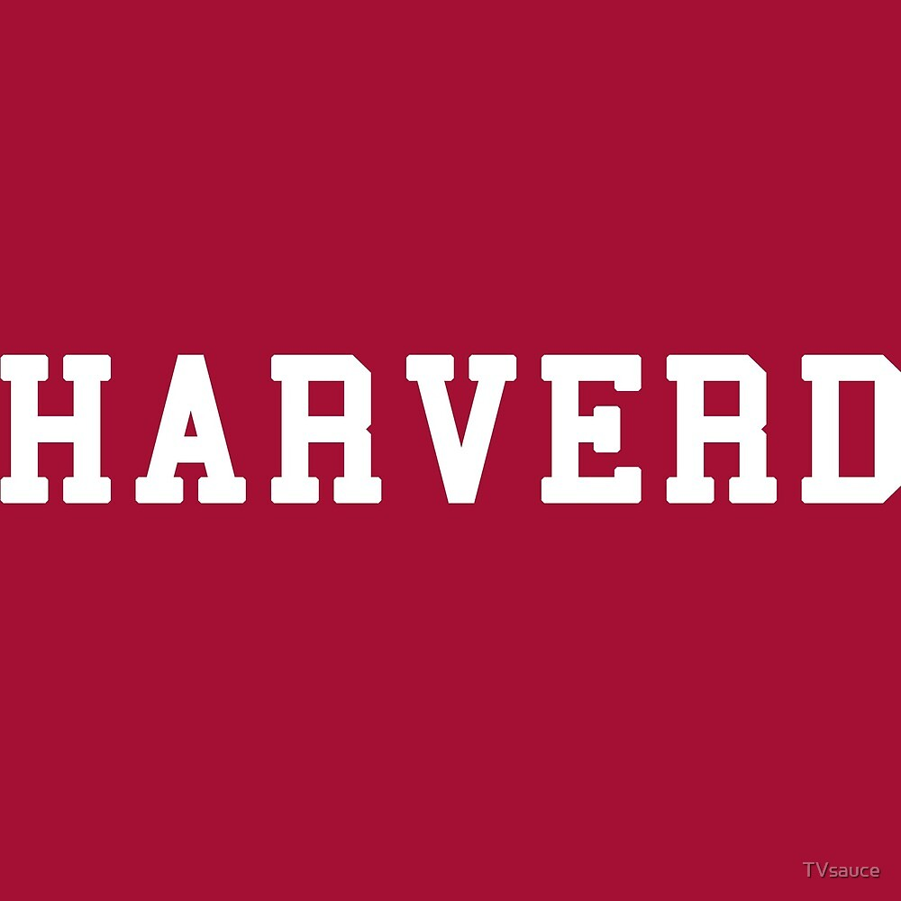 HARVERD (white letters) by TVsauce