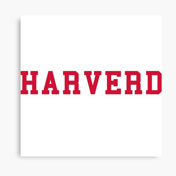 HARVERD (red letters) Canvas Print