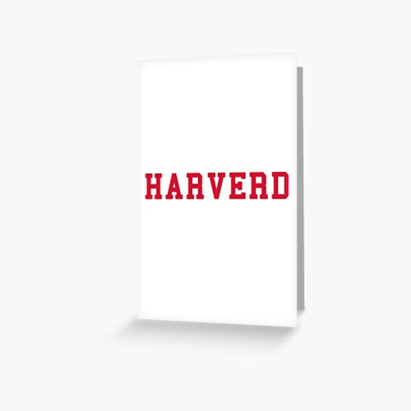 HARVERD (red letters) Greeting Card