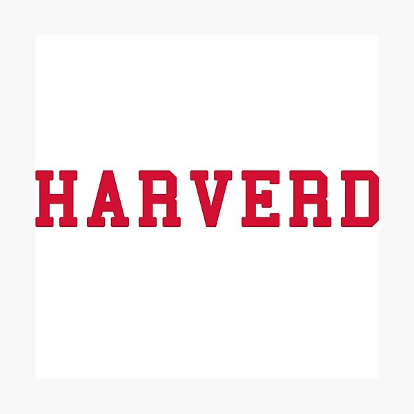 HARVERD (red letters) Photographic Print