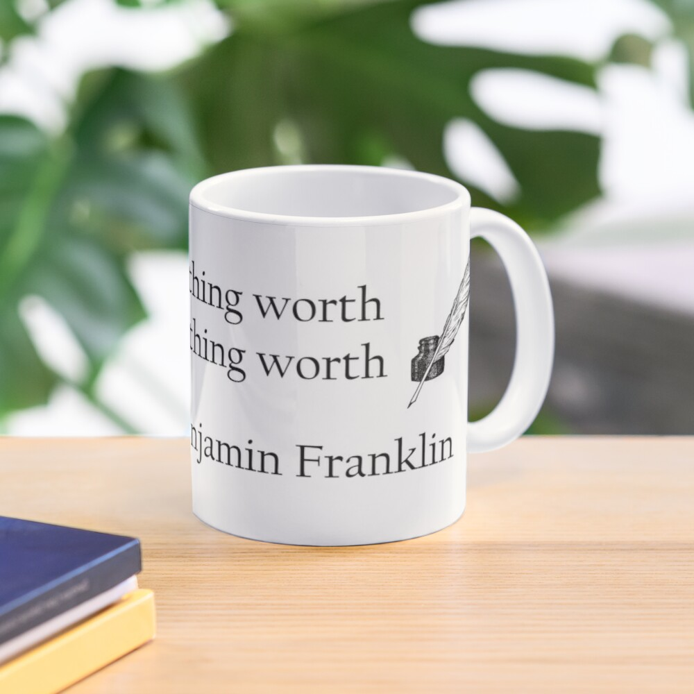 Benjamin Franklin Ink and Quill Quotable Mug