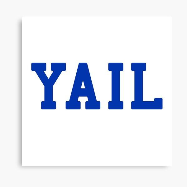 YAIL (blue letters) Canvas Print