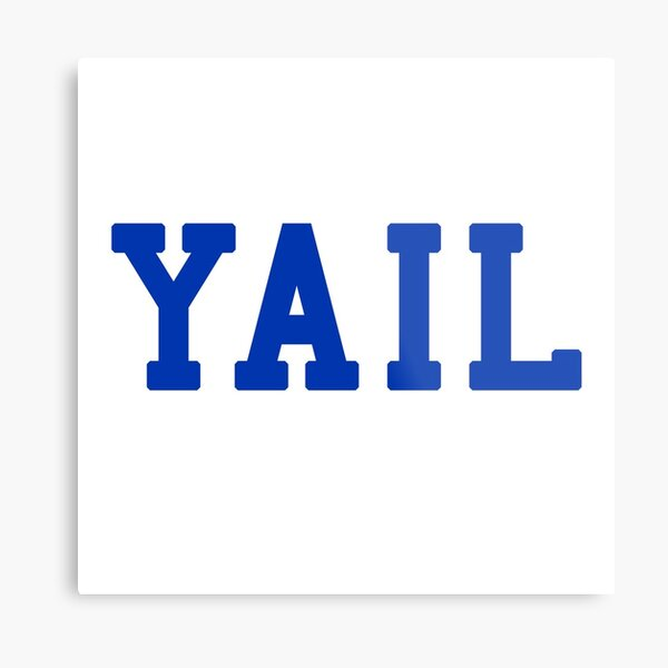YAIL (blue letters) Metal Print
