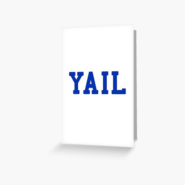 YAIL (blue letters) Greeting Card