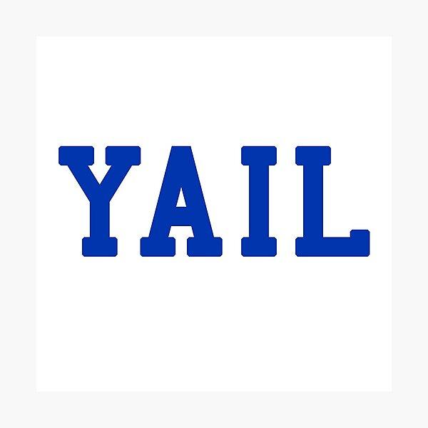 YAIL (blue letters) Photographic Print