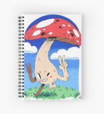 Peace Mushroom Spiral Notebook