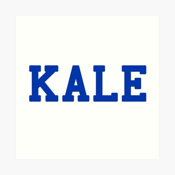 KALE (blue lettering) Art Print