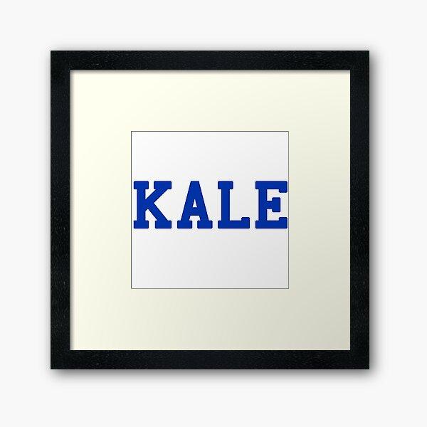 KALE (blue lettering) Framed Art Print