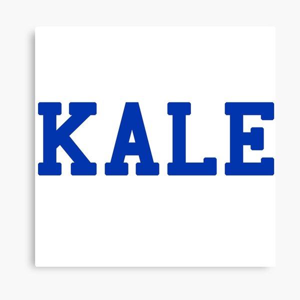 KALE (blue lettering) Canvas Print
