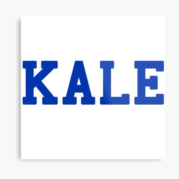 KALE (blue lettering) Metal Print
