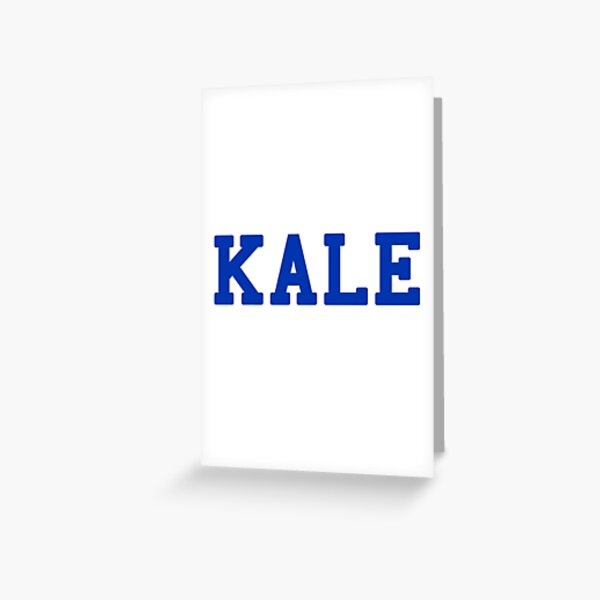 KALE (blue lettering) Greeting Card