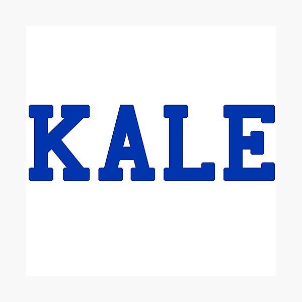 KALE (blue lettering) Photographic Print