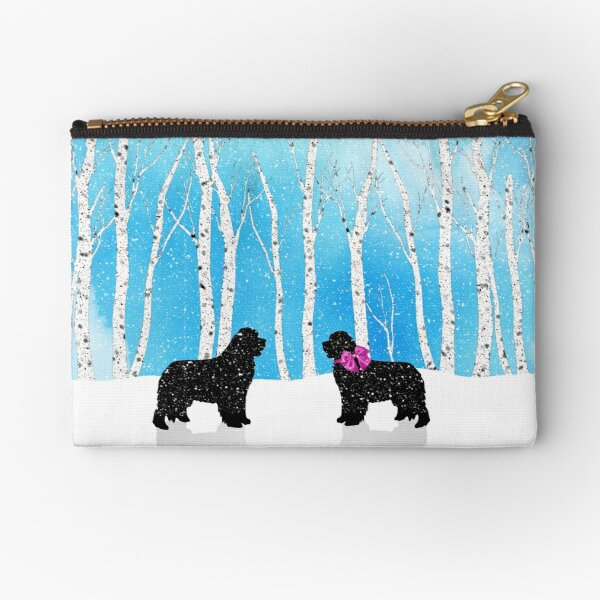 Newfies Fall in Love Zipper Pouch