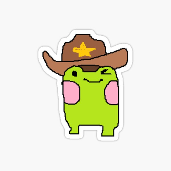 Yeehaw frog! Sticker