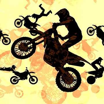Dare to Fly -  Motocross Stunts by NaturePrints