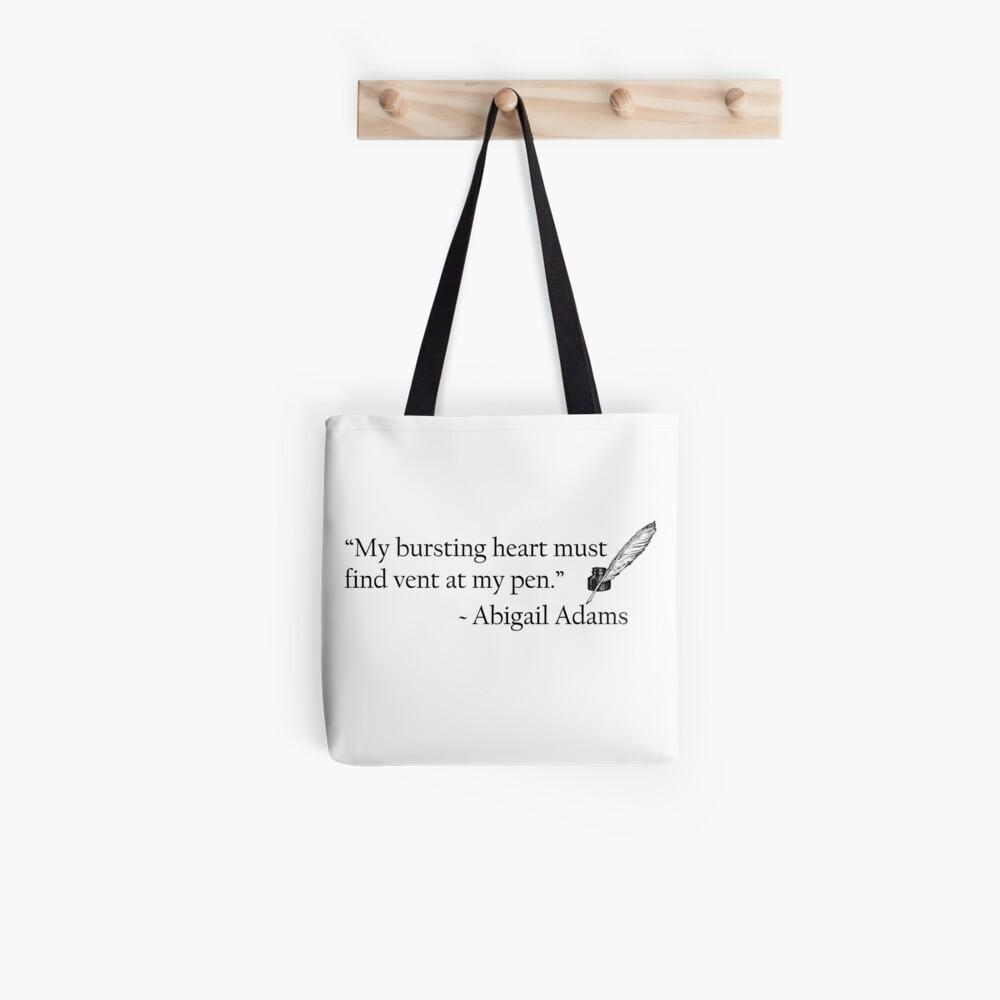 Abigail Adams Quill Quotable Tote Bag