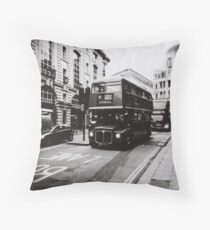 London bus 9 Aldwych Throw Pillow