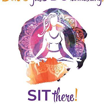 Yoga irony by ivaelizabeta