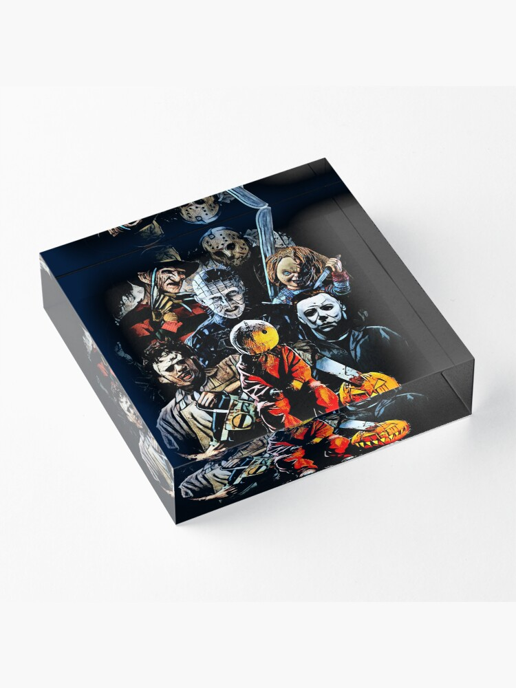 Alternate view of Horror movie characters Acrylic Block