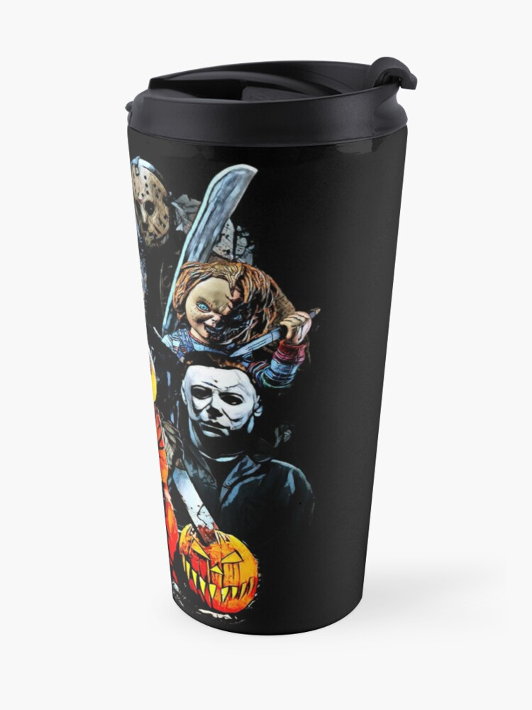 Alternate view of Horror movie characters Travel Mug