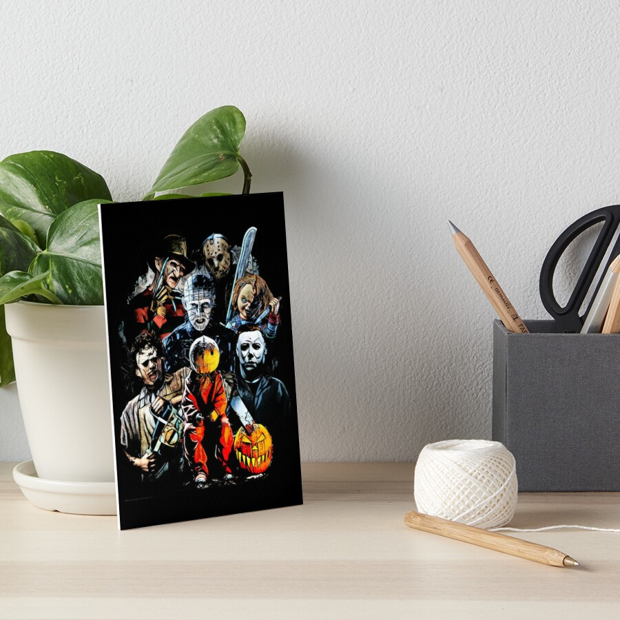 Horror movie characters Art Board Print