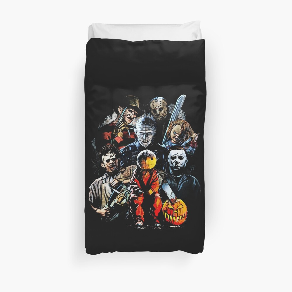 Horror movie characters Duvet Cover