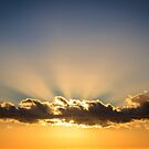 Sunset cloudscape with sun rays  by Chris Warham