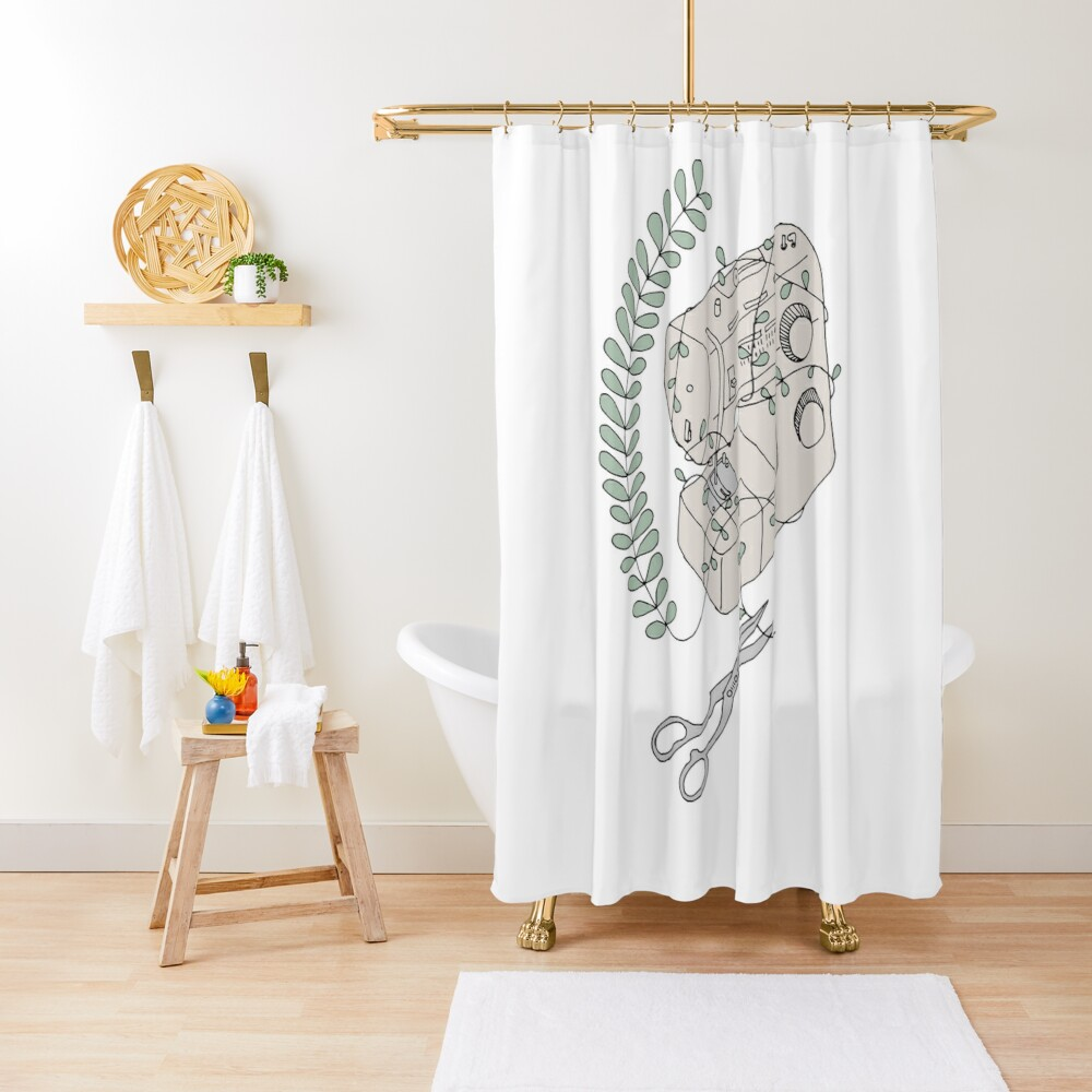 The Sewing Machine Escape Shower Curtain
