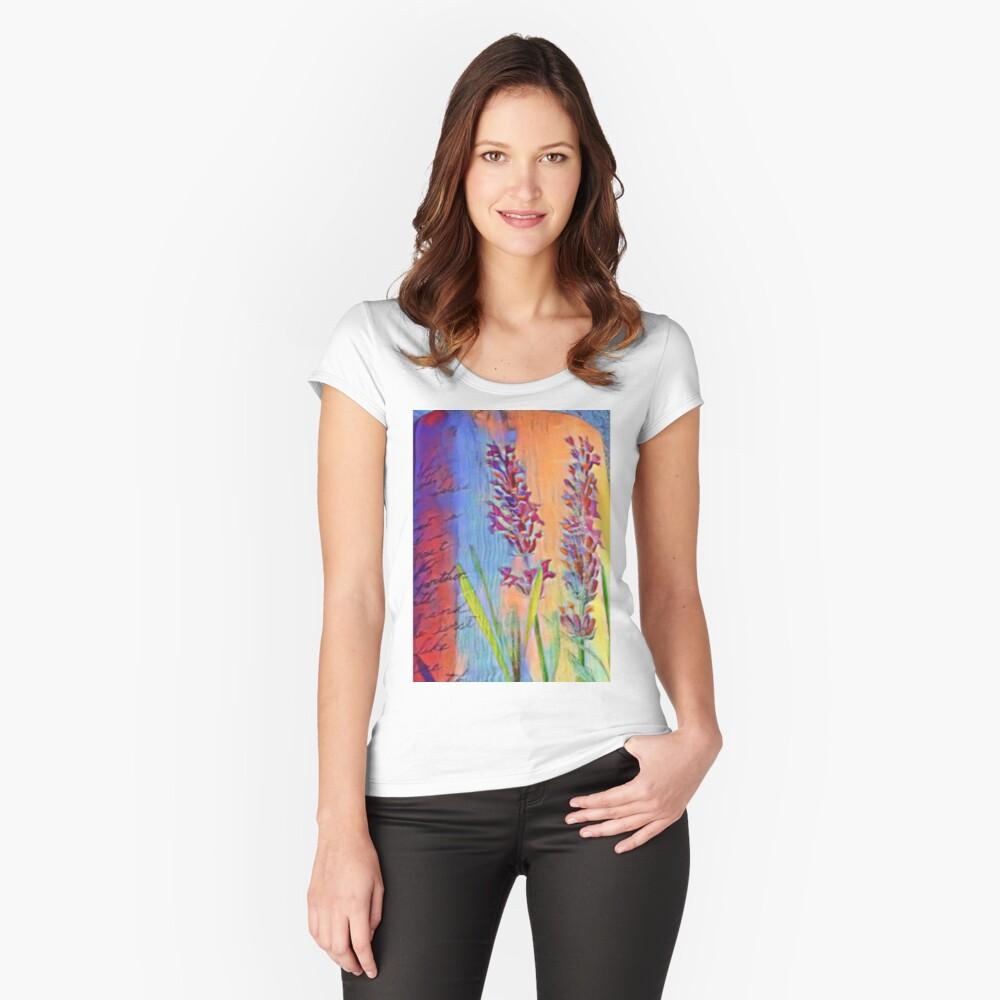 Gesetzgeber farbenfroh Tailliertes Rundhals-Shirt