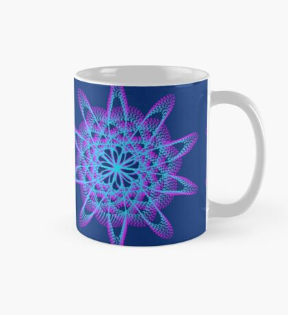 Spirograph with pink and blue Mug