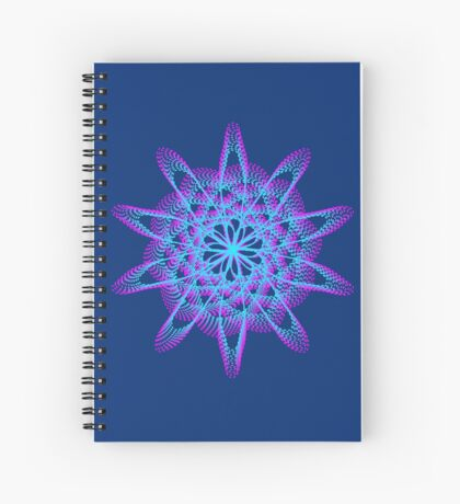 Spirograph with pink and blue Spiral Notebook