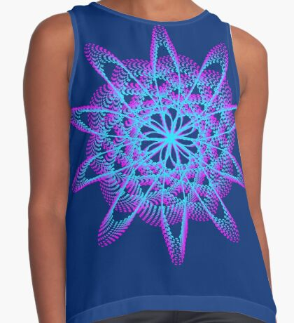 Spirograph with pink and blue Sleeveless Top