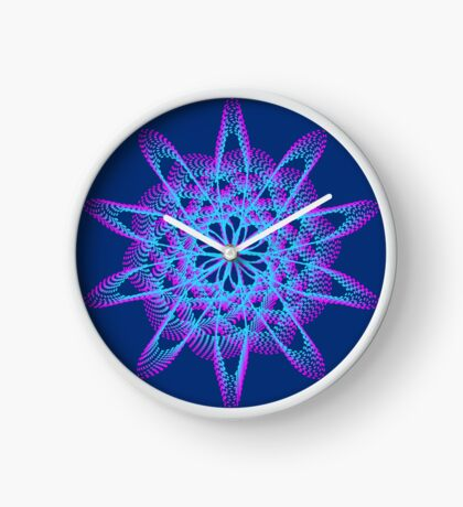Spirograph with pink and blue Clock