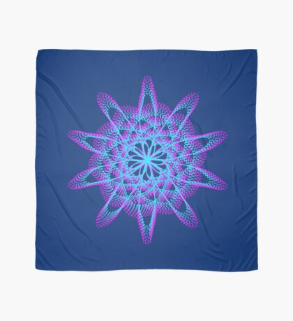 Spirograph with pink and blue Scarf