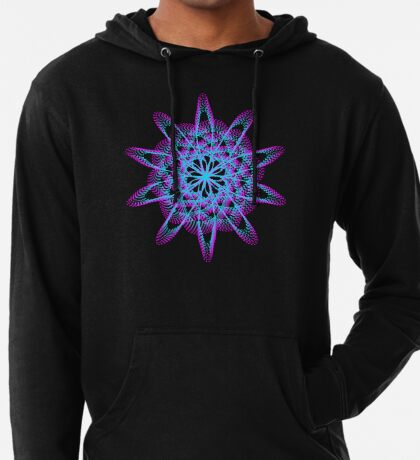 Spirograph with pink and blue Lightweight Hoodie