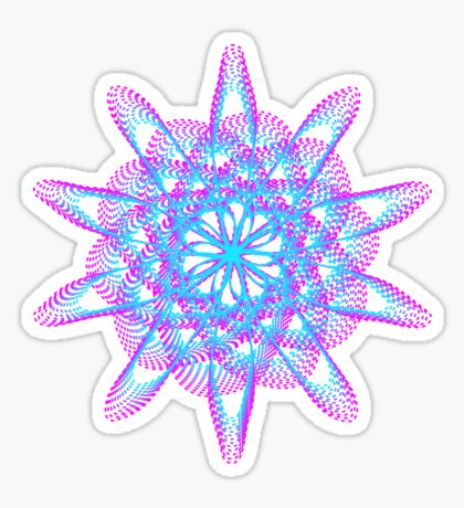 Spirograph with pink and blue Sticker