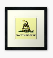 Don't Trump On Me (classic) Framed Print