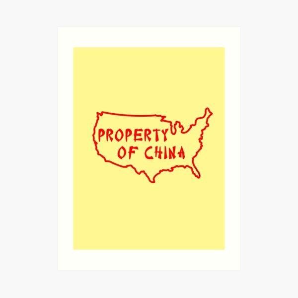 Property of China Art Print