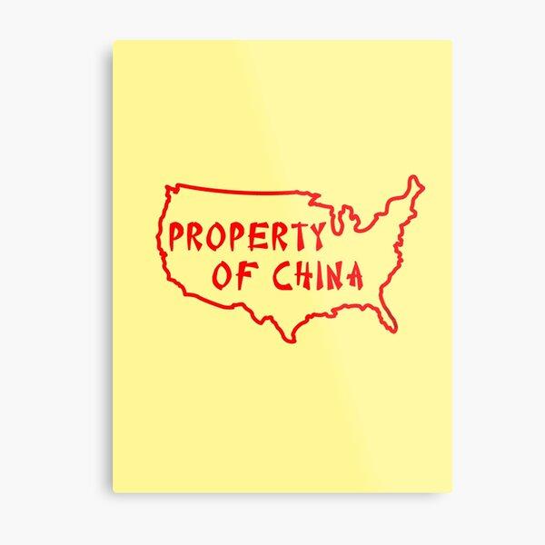 Property of China Metal Print