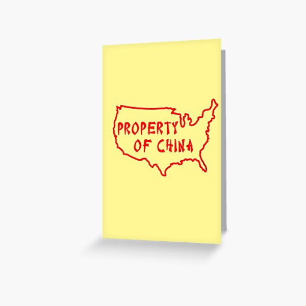 Property of China Greeting Card