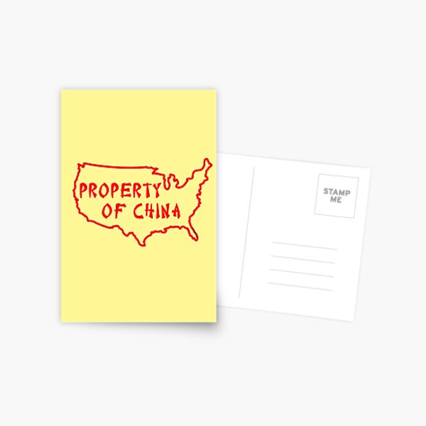 Property of China Postcard