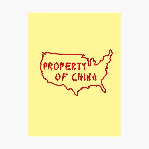 Property of China Photographic Print