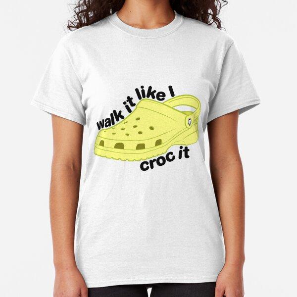 Walk it Croc it - Yellow Classic T-Shirt
