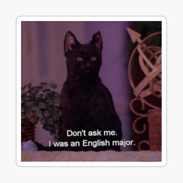Englisch Major Salem Sticker