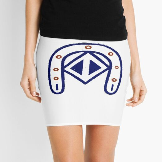 #sign #symbol #icon #road traffic warning isolated white button road sign Mini Skirt