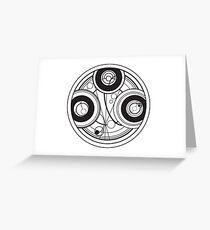 Gallifreyan Logo Greeting Card