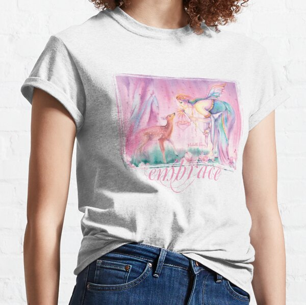 Sienna and the Deer Embrace the Cherry Blossom Tree Classic T-Shirt