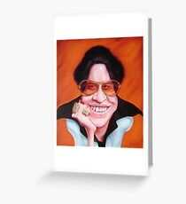 Hector Lavoe Caricature Greeting Card
