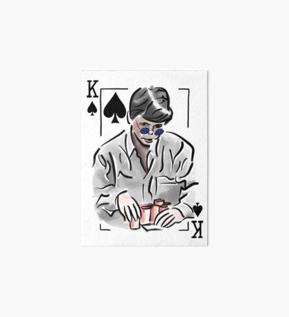 Stu Ungar Poker Art Board Print
